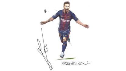 Marcar a Messi es la pesadilla de cualquier defensa, ¿verdad Boateng?, pero dibujarlo es un poco más sencillo y Paul Trevillion nos dice cómo hacerlo.