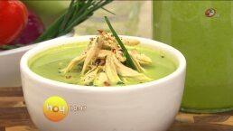Cocina chef Oropeza Sopa de brócoli y curry verde