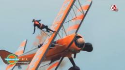 Esta vez Montserrat presenta pilotos que caminan en las alas de aviones
