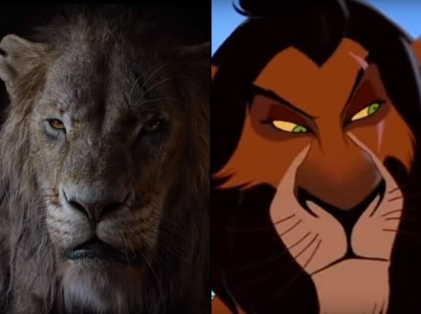 Comparación entre El Rey León animado de 1994 y la versión live action que se estrenará este año
