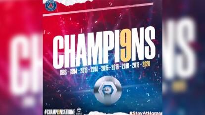 El equipo parisino se proclamó campeón tras la suspensión del torneo francés por el coronavirus.