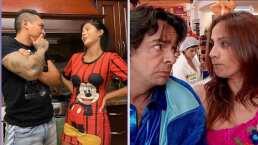 """Edwin Luna y Kimberly Flores protagonizan pelea al estilo de 'La Familia P. Luche"""" en TikTok"""