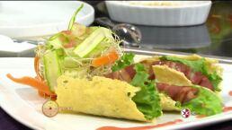 Cocina Omar Sandoval ´Quesadillas de pera y tocino´