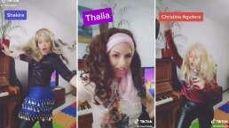 "Esta tiktoker canta ""Mi pan sum sum"" imitando a Thalía, Shakira y Christina Aguilera"