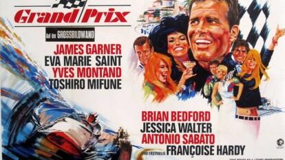 Grand Prix-1966 de John Frankeinheimer. Historia de cuatro pilotos peleando por el título. Las tomas de cámaras a bordo son lo más apreciado por los aficionados que pueden recordar el viejo monza y los peraltes gigantescos, Spa Francorchamps y el glamour del Gran Premio de Mónaco.