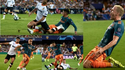 En partido vibrante en España, el Ajax golea y asume el liderato del grupo H.