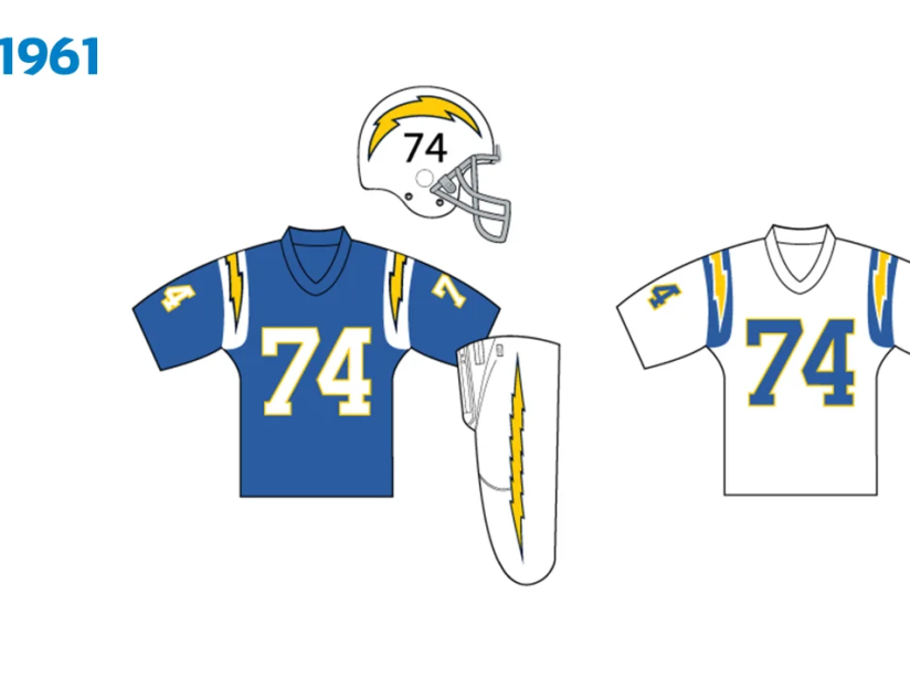 Uniforme Chargers 1961.png