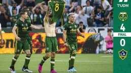 ¡Sin piedad! Timbers goleó al Galaxy que tuvo a Zlatan y a Jonathan todo el juego