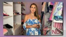 Jacky Bracamontes muestra el enorme clóset improvisado de sus tres hijas en su casa de Miami
