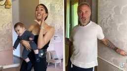 La divertida forma en la que Sharon Fonseca le pide ayuda a Gianluca para cambiarle el pañal a su bebé