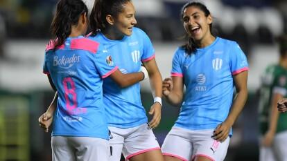 Por Monterrey marcaron: Mónica Desiree y Diana Evangelista (2); para las locales descontó Sanjuana De Jesús Muñoz.