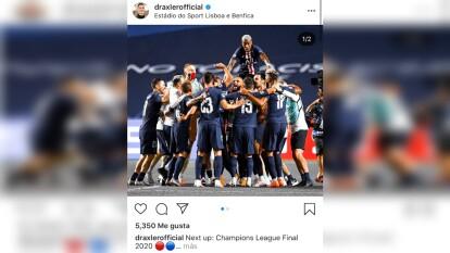 Asi celebraron los jugadores del Paris Saint Germain tras conseguir el hist´orico pase a la final del torneo de clubes más prestigioso del mundo.