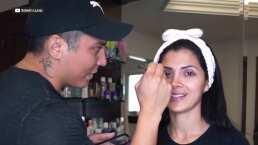 """""""Es todo un profesional"""": Edwin Luna cumple el reto de maquillar a su esposa Kimberly Flores"""