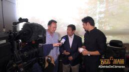Detrás de cámaras:  ¡Juan Osorio recibe a Homero!