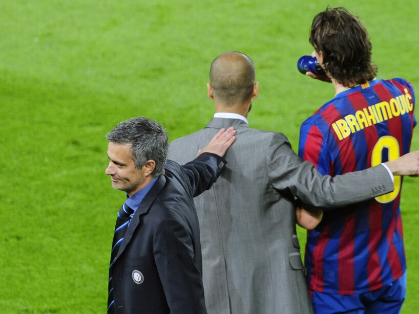 Pep Guardiola, Zlatan Ibrahimovic, Jose Mourinho