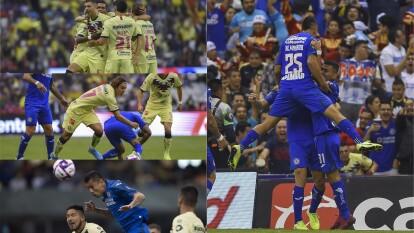 Cruz Azul remonta y consigue goleada de 5-2 frente al América.