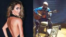 Anahí conmueve en redes al grabar a su papá cantando y tocando la guitarra
