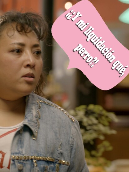 En el primer capítulo de la quinta temporada, Don Paquis despide a la Toña y ella reacciona de esta manera.