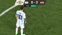Futbol Retro | La frustración de Messi ante goleada croata