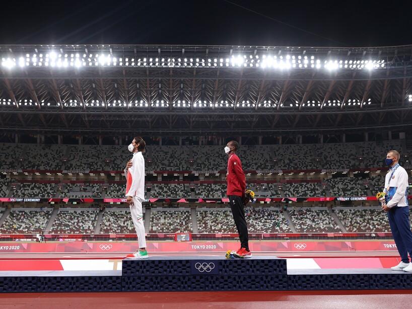 El histórico podio de Tokyo 2020 en el salto de altura