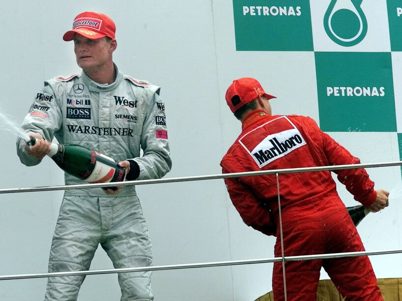 COULTHARD AND SCHUMACHER