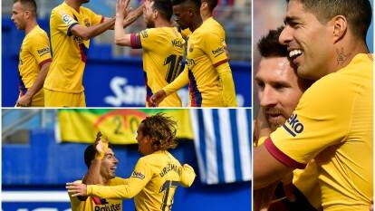 Griezmann, Messi y Suarez anotan y demuestran que el nuevo tridente funciona perfectamente.