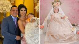Kimberly Flores y Edwin Luna celebran en grande el bautizo de su hija