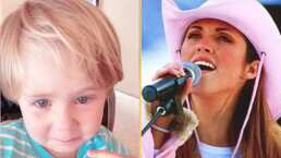 """Anahí canta a capella """"Sálvame"""" y le pregunta a su hijo:  """"¿Por qué lloraste Manu?"""""""
