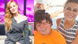 Daniela Magun demostró sus habilidades de maquillaje, convierte a su hijo en un viejito