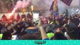 Afición del Barça bloquea llegada de Koeman al Camp Nou