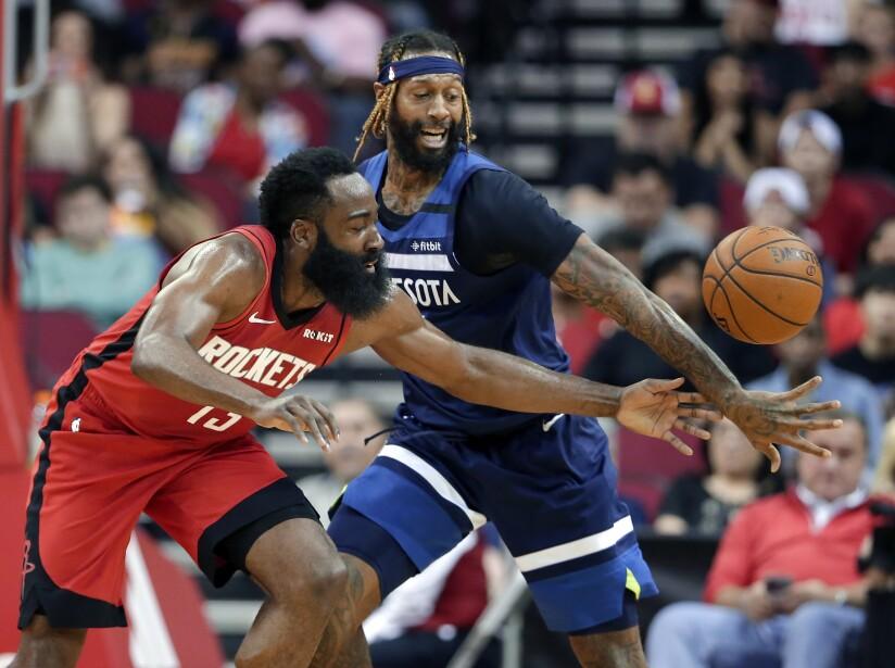 Timberwolves Rockets Basketball