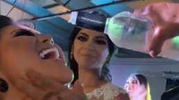 Lluvia de champaña y una pedida de matrimonio: Gomita filtra video de la boda de Edwin Luna