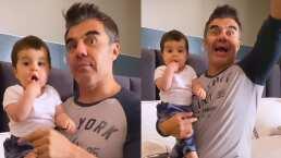 """Adrián Uribe ganó y """"papá"""" se convierte en la primera palabra de su bebé"""