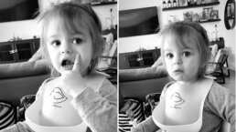 'Ya soy una niña grande': Kailani y la tierna respuesta a su mamá por negarse a usar babero