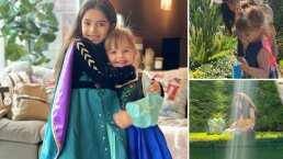 Así se divirtieron Kailani y Aitana al buscar sus coloridos huevos de Pascua