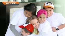 """Angelique Boyer cumplió el sueño de cuatro niños que luchan contra el cáncer: """"Me acaban de dar mucha energía"""""""