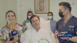 Andrea Escalona le regala a su papá un tratamiento estético por el Día del Padre