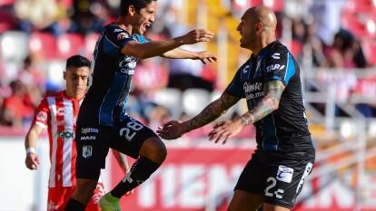 Con doblete de Ariel Nahuelpán y uno más de Jaime Gómez, Querétaro supera a Necaxa y ratifica su buen momento en la Liga MX.