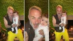 Con una salsita, Gianluca Vacchi le enseña a bailar a su bebita al ritmo de Marc Anthony