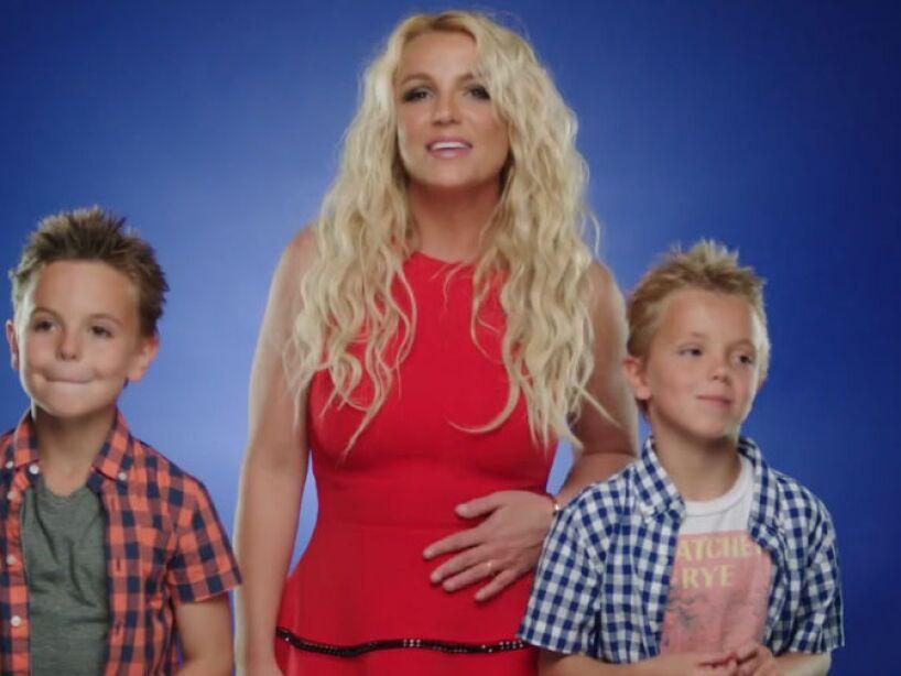 3. Britney Spears: La Princesa del Pop tiene dos pifutos, sus chiquitines Sean Preston y Jayden James.