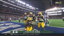 ¡Ya son cuatro touchdowns de Aaron Jones!