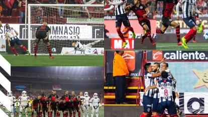 Con doblete de Funes Mori, gol desde los once pasos de Nico Sánchez y gol de Pizarro, Monterrey golea de visita a los Xolos.