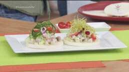 RECETA: Tostada de jícama con ceviche