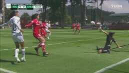¡Sandra Lozano evita el gol del Atlas en dos ocasiones al hilo!