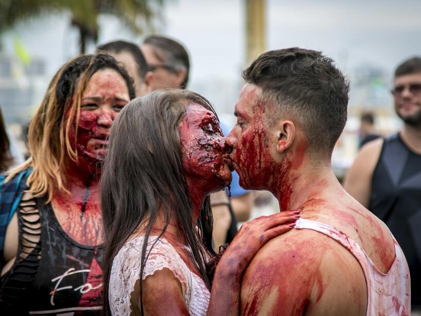 Brazil: Zombie Walk in Rio de Janeiro