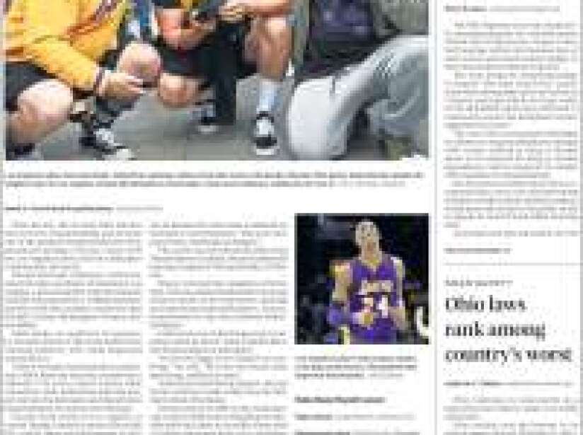 Kobe Bryant, periódico, THE PLAIN DEALER.jpg