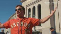 Aficionados de Astros se hacen presentes en el Yankee Stadium