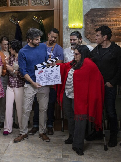 El elenco y equipo de producción de 'S.O.S. Me estoy enamorando' dio el claquetazo oficial de las grabaciones de la telenovela en una de las locaciones que formará parte de esta esperada historia.