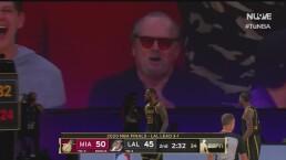 Jack Nicholson celebra gran anotación de LeBron James