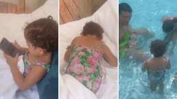 El adorable berrinche de Paula, hija de Jacky Bracamontes: la regañaron por estar con el celular